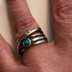 Jewelry - Sterling silver women's size 7 ring with turquoise
